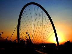 Arco olimpico (archgionni) Tags: blue sun colors architecture tramonto sole arco structural archi olimpico cavi strutture platinumphoto onlythebestare top20vivid