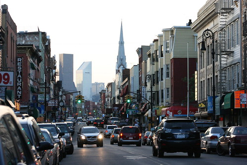 View of Manhattan from Manhattan Ave. in Greenpoint, Brooklyn, NY - Taken by Gubatron, Aug 2007