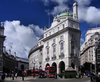 Regent Street Quadrant from Piccadilly Circus