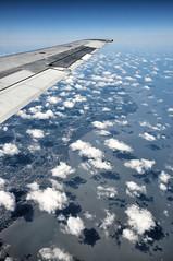 U.S. Airspace: Northern Ohio and Lake Erie (Jim Watkins Photography) Tags: ohio lake clouds coastline erie fromanairplane