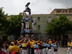"""Castellers de Poble Sec, Esparreguera May 2010 """"4de6 amb l'agulla"""" 1"""
