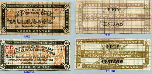 Fake Philippine Guerrilla currency