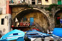we can be sailors (AndreaUPl) Tags: sea mare place 5 liguria ships barche salvagente terre riomaggiore marinaio andreaupl