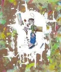 """""""Pleine distance"""" 2010 (louisphilippevivien) Tags: painting paint peinture artbrut tableau peintureacrylique"""