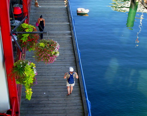 Lonsdale Quay in North Vancouver, a section of the boardwalk at the waterfront