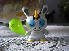 Zebracorn (dejavoodoo_) Tags: amanda art fun toy happy bubi au balloon vinyl bubble dunny visell zebracorn yueng