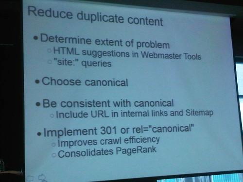 reduce duplicate content slide