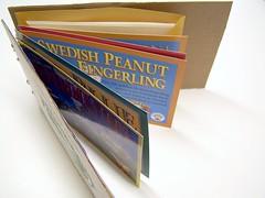 potato postcard book - top view