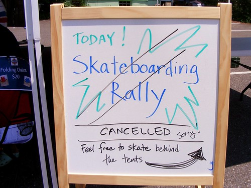 Skateboarding Rally Cancelled