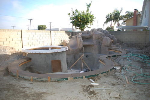 coping forms put on spa removal of gunite from backyard