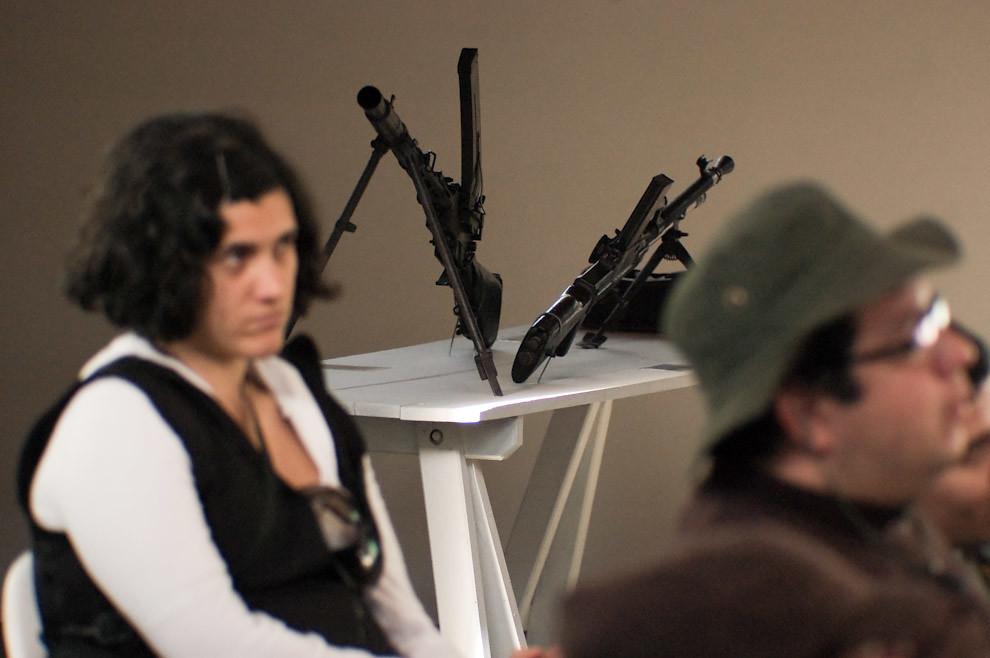 Armas de la Guerra del Chaco son exhibidas en el Museo Histórico del Fortín Boquerón al lado del Salón de Conferencias. (Elton Núñez - Fortín Boquerón, Paraguay)