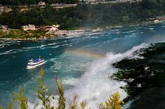 "A boat and a rainbow at Niagara Falls • <a style=""font-size:0.8em;"" href=""http://www.flickr.com/photos/29931407@N00/5178989031/"" target=""_blank"">View on Flickr</a>"