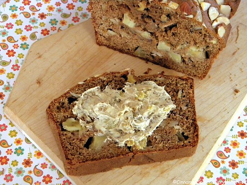 Apple Bread with Rum Raisin Cream Cheese
