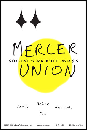 Mercer Union Poster