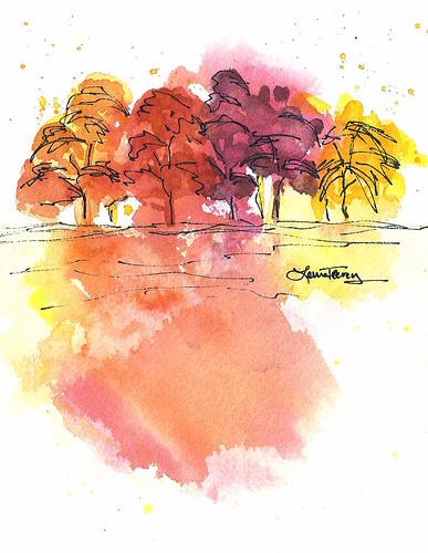 a colorful landscape