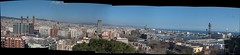 Barcelona skyline from Montjuich olympic swimming pool (panorama) (Xosé Castro) Tags: barcelona autostitch panorama españa skyline spain pano bcn espagne stitched montjuich