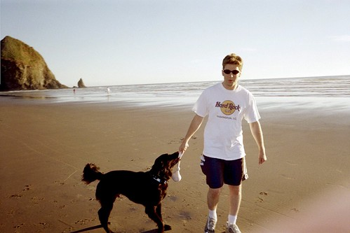 Rufus and Aaron at Canon Beach