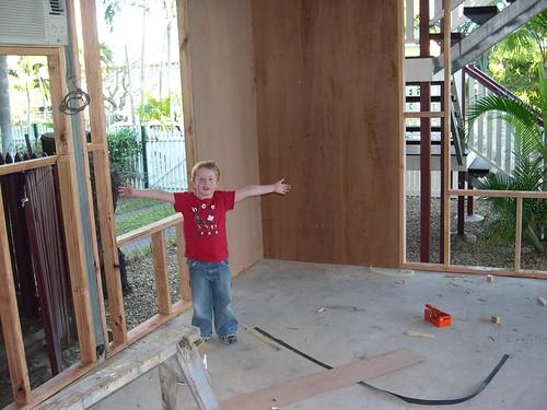 Caleb Bedroom External Framing