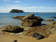 Beach Rocks (travellingcharl) Tags: beach sand rocks sydney australia bluesky pittwater barrenjoey northernbeaches kuringgaichasenationalpark brokenbay westheadbeach