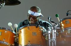 Bill Cobham-2 (abudoma) Tags: uk drums bill concert gig jazz cobham drummer worldmusic liveperformance womadfestival womad womad2007 29july2007 womadcharltonpark2007 billcobhamm