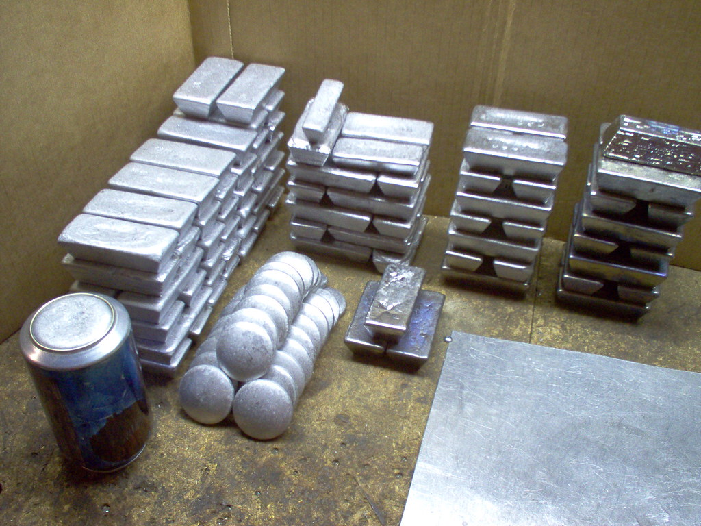 Ingots of Cleaned lead