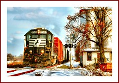 Carlisle Local (Images by A.J.) Tags: railroad winter snow train crossing pennsylvania ns norfolk rail railway trains southern pa carlisle freight