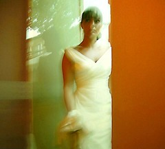 rothko bride (hanna.bi) Tags: venice wedding portrait orange woman white green bride dress rothko hannabi humanbodygallery2incolors