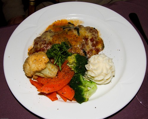 Veal Parmigiana at Antics Restaurant, Wollongong NSW 2500 Australia