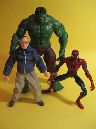 Stan Lee, Hulk and Spider-man