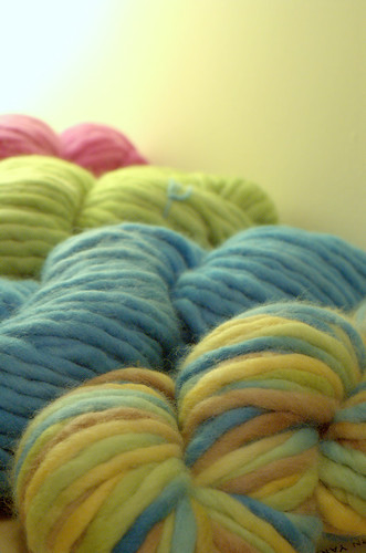 4 Skeins of Yarn Yard Merino Roving