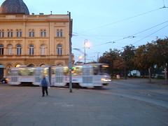 Tram at Dusk