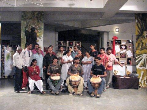 folk songs and drumming...