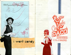 i want candy (*Juliabe) Tags: moleskine collage artwork candy diary agenda caramelospaco chineserestaurantbill audreyandsomeskinnylady