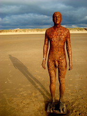 Shadow (notFlunky) Tags: uk shadow england beach weather statue metal liverpool naked penis shadows body shade mersey crosby merseyside anthonygormley scouse nttshadow
