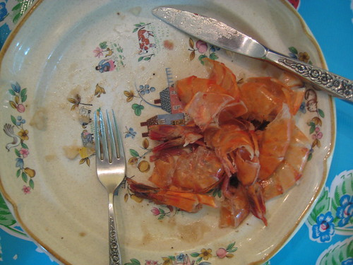 shrimp boil remains