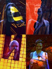 Dyonisis (pho-Tony) Tags: musician music film rock musicians 35mm lens four exposure photoshoot kodak folk iso400 doubleexposure sheffield band olympus overlay quad om10 double ishootfilm stereo 400 intoxicated chance analogue 135 publicity lenticular 4lens nimslo c41 fourlens redscale dyonisis