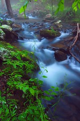 evening cascade (photogg19) Tags: creek river nikon stream arkansas ozark hebersprings d40 littleredriver collinscreek