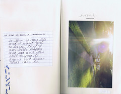 home [page 6-7] (taylorboren) Tags: film writing print book stitch pages quote sew alteredbook looseleaf perksofbeingawallflower