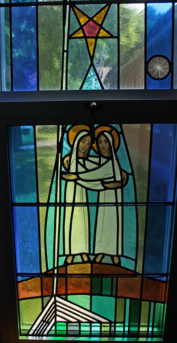 Mary visits Elizabeth Window