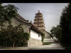 Giant Wild Goose Pagoda (Kaj Bjurman) Tags: china wild photoshop eos pagoda goose xian 5d kina kaj markii photomatix bjurman