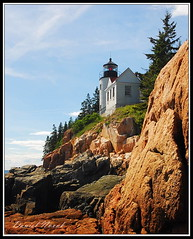 Bass Harbor Head Lighthouse, Maine (ME) (DSF_3398) (masinka) Tags: ocean blue sky lighthouse white private lens island coast harbor rocks order mt gulf desert bass head tide low guard rocky places down historic atlantic east mount national fresnel register residence fourth nationalregisterofhistoricplaces