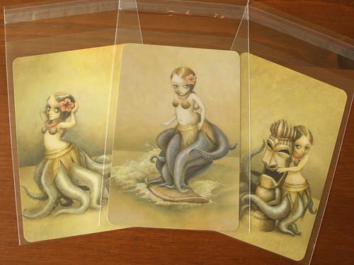 huladollsquidgirl Postcard Set