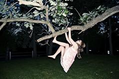 theuniverseisgoingtocatchyou (yyellowbird) Tags: selfportrait tree girl backyard flash climbing swinging cari