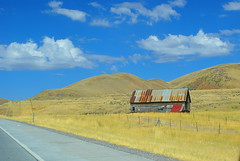 Somewhere in Idaho (butacska) Tags: blue fall barn landscape sony szeptemberkorutidaho