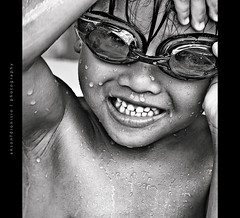 drenched (images by anson dionisio ) Tags: summer vacation bw 20d swim canon fun seth philippines sweat anson davao gogles