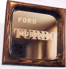 Etched Glass Mirror Square (Imagination Unincorporated) Tags: ford mirror mustang etch turbocharged etchedglass trubo mirrorsquare