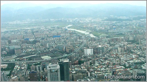 View from Taipei 101 Observation Deck