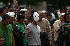 (20) (sabzphoto) Tags: people paris france iran crowd protest farshad  iranelection   farahsa