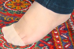 (footslavary) Tags: feet foot persian kissing pretty nylon trample
