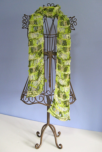 Green summer scarf